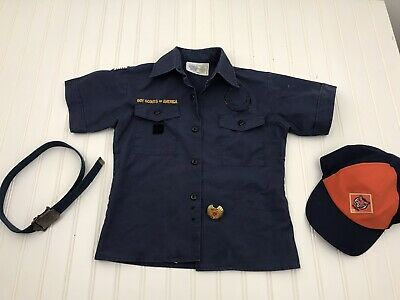 Used Boyscouts Cubscouts Scouts Blue Uniform Button Up
