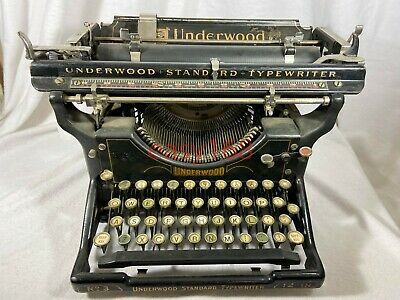 Antique Vintage Underwood No3 Standard Typewriter 12 Inch No 3 1900 to 1931 USA