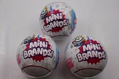 5 Surprise Mini Brands Collectible Toy Ball (3 Pack) Zuru ship 4 Christmas