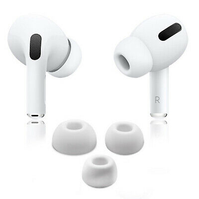 White Noise reduction Ear Tips Buds Cover For Apple Airpods Pro Earphones