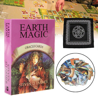 48-Cards Earth Magic Oracle Deck Future Fate Fortune Telling Game&Tablecloth TOP