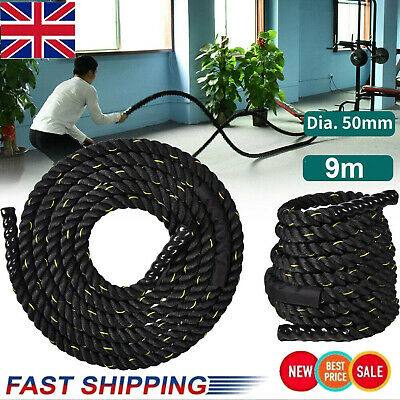 9m Battle Power Rope Battling Exercise Fitness Bootcamp Training Gym Heavy Duty