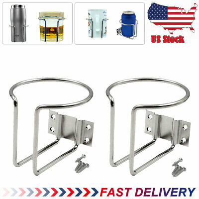 1 Pair Ring Cup Drink Holders Stainless Steel For Boat Marine Yacht Truck Car RV