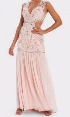 Forever Unique Pink Embellished NONA Dress Size 8 RRP £645 ON SALE NOW £255