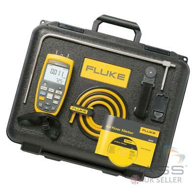 Genuine Fluke 922 Airflow Meter Kit w/ Pitot Tube, Hoses, Case & More