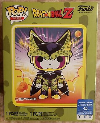 FUNKO POP! Dragon Ball Z Metallic Perfect Cell (Large Tee) GameStop Exclusive