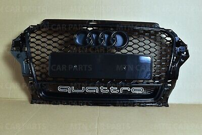 Rs3 Style Gloss Black Grille For Audi A3 S3 S-Line 8V 2013-2016 Quattro
