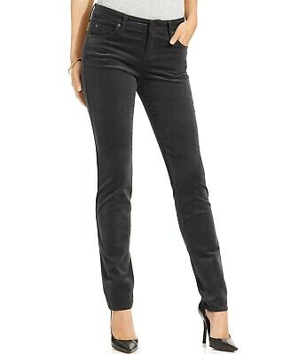 $295 Kut From The Kloth Women's Black Stretch Mid-Rise Skinny Corduroy Pants 4