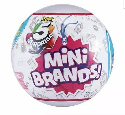 5 Suprise Mini Brands Zuru 1 BALL