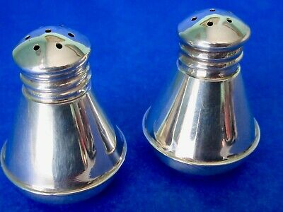 Antique Gorgeous Art Deco Sterling Silver Salt & Pepper Shakers Set of 2 Canada