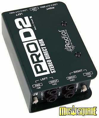 Radial Engineering ProD2 Stereo Passive Direct Box PRO D2 PRO-D2 R8001102 2 Day!