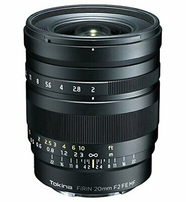 Tokina single focus lens FiRIN 20 mm F 2 FE MF manual focus for Sony ?E