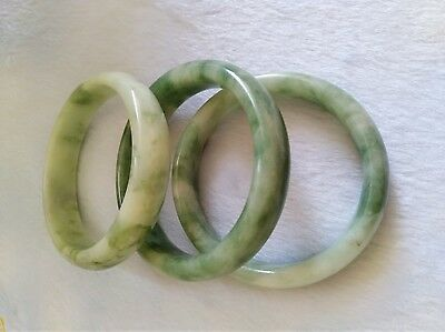 100%Natural Chinese Jade Bangle Bracelet beautiful Jadeite Bangle 58-62mm