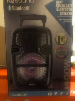 "8"" Inch Bluetooth Portable Speaker With Usb/SD/FM Radio.Wired Mic Included"