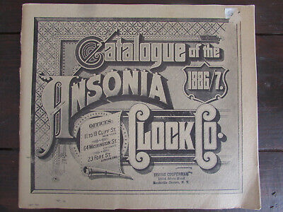 1967 REPRINT 1886-1887 CATALOGUE OF THE ANSONIA CLOCK CO.-CATALOG-w/ PRICE LIST