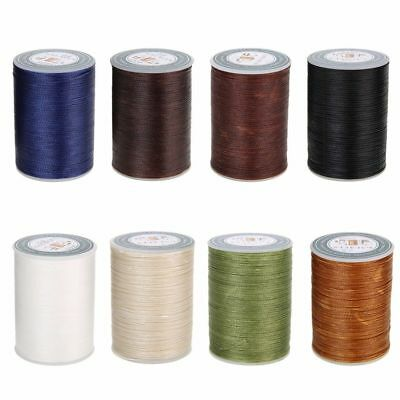 0.8mm 90m Waxed Line Thread Polyester Sewing Flat Stitching Leather Craft FT