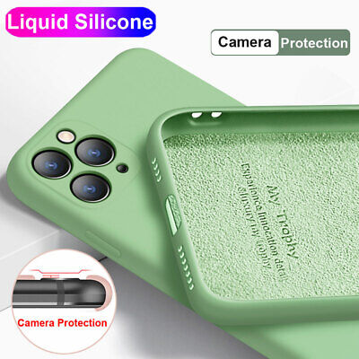 Camera Protective Case for iPhone 11 Pro XS Max XR X 6 7 8 Liquid Silicone Cover