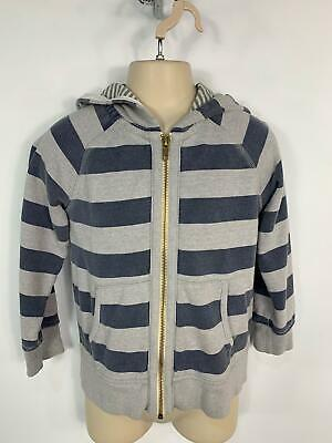 Boys Mini Boden Blue&Grey Zip Up Casual Hoodie Jumper Sweater Kids Age 4/5 Years