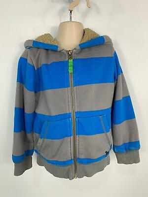 Boys Mini Boden Blue&Grey Zip Up Casual Hoodie Jumper Sweater Kids Age 3/4 Years