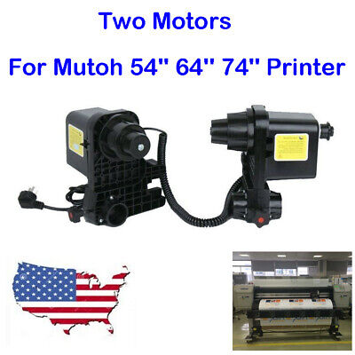 For Mutoh 54'' 64'' 74'' Printer Auto Media Take UP Reel Roller System 2 Motors