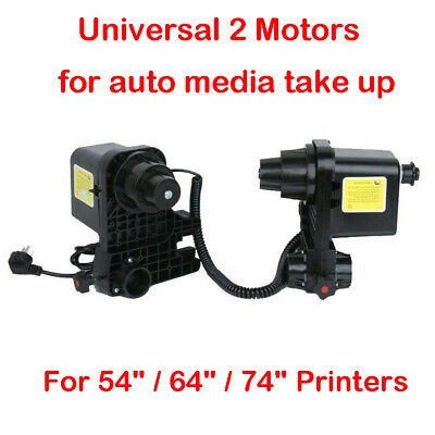 Auto Media Take up Reel Paper Receiver 2 Motors For Roland Epson Mutoh Mimaki