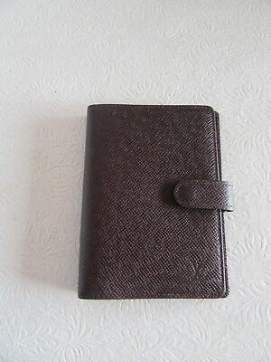 Louis Vuitton Taiga Leather Agenda CA0968 Authenticity Verified
