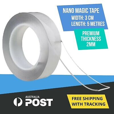 Nano Magic Tape Double-Sided Clear Adhesive Invisible Gel Anti-Slip 5 metres