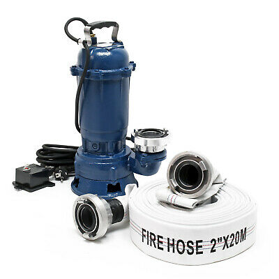 Waste Water Pump 1100W 15,000l/h with 20m Hose Submersible Pump