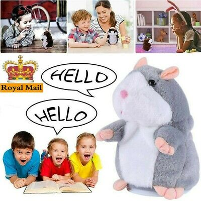 Talking Hamster Electronic Plush Toy Repeat Mouse Sound Soft Gift Kid Children