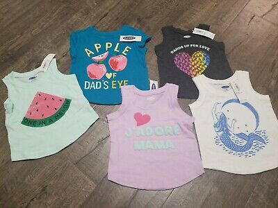 Infant Girls printed tank tops shirts Old Navy lot NEW sz 3-6 months