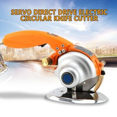 Servo Electric Circular Knife Cutter Direct Drive Cloth Fabric Cutting Tool 220V