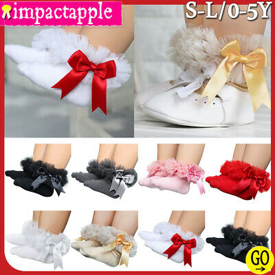 ⚑Kids Girls Toddler Baby Ruffle Frill Lace Bow Ankle Socks Casual Princess Socks