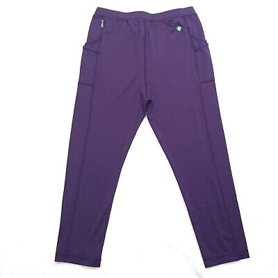 White Sierra Girls Capri Leggings with Insect Shield Shadow Purple Youth XL New