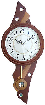 Pendulum Wall Clock Antique Vintage Wooden Finish Analog Watch Clock Home Decor