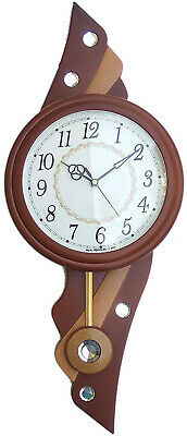 Pendulum Wall Clock Antique Vintage Wooden Finish Ornate Home Decor Cuckoo Clock