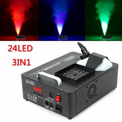 RGB 24 LED 1500w Smoke Maker Fog Machine Macchina del fumo Vertical Fogger DMX