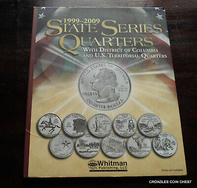 1999-2009 State Series Quarters 60 Coin Complete Set In Pushin Whitman Album