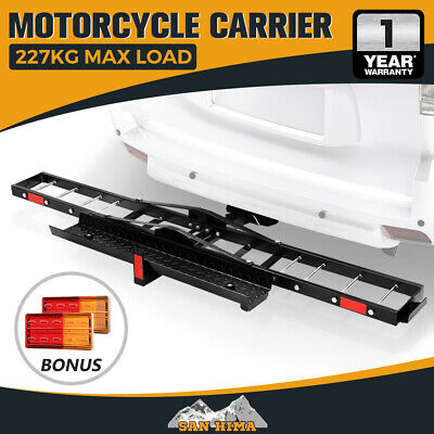 "【15% OFF】SAN HIMA Motorcycle Carrier Motorbike Rack 2"" Towbar Bike Ramp with"