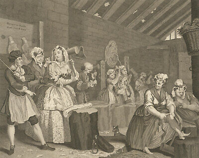 Thomas Cook after Hogarth - 1799 Engraving, A Harlot's Progress: Plate IV