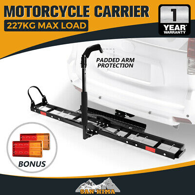 "【15% OFF】Motorcycle Carrier Motorbike Rack 2"" Towbar Arm Rack Dirt Bike Ramp"