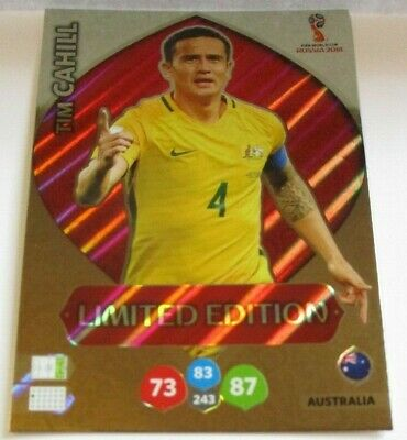 Panini * World Cup Russia 2018 * Adrenalyn XL * Limited Edition ****CAHILL***