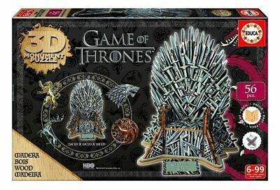 Geda Labels - Game Of Thrones 3D Monumental Puzzle Iron Throne - Neu/Ovp