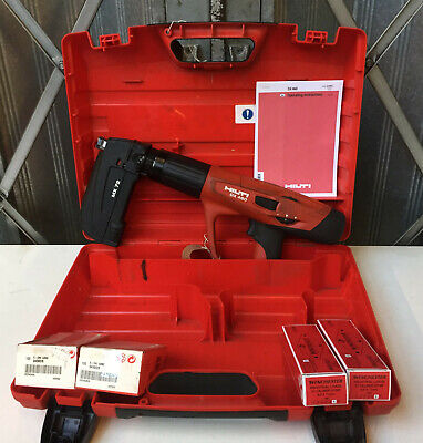 Hilti DX460 MX72 Nail Gun Cartridge Hammer C/W 200 Nails & Cartridges REF 8053