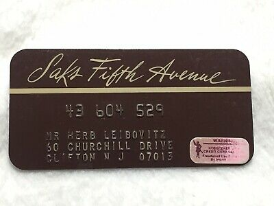 Vintage Saks Fifth Avenue Early Store Credit Charge Card