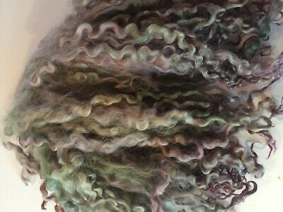 50g Green & Lilac Teeswater Curls
