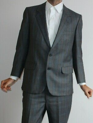 Magee Vintage Brown & Multi Colour Check Suit - 40 S / 34 W - Wool - Mens