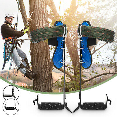 2 Gears Tree/Pole Climbing Spike Set Both Sides Safety Belt Lanyard Rope Tools