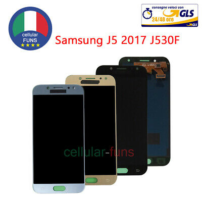 Per Samsung Galaxy J5 2017 J530F DISPLAY + LCD TOUCH SCREEN SCHERMO VETRO