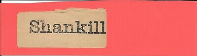 Shankill - Irish Railways - Luggage Label