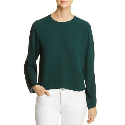Vince Camuto Womens Green Side Tie Long Sleeves Blouse Top S BHFO 3196